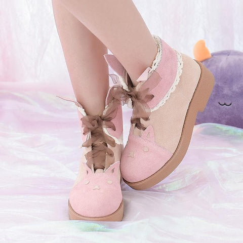 Sweet Preppy Style Low Boots SP168512