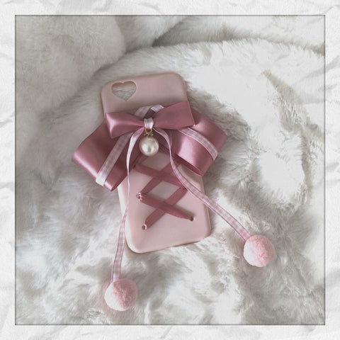 Sweet Ribbon Bow Pearl Phone Case SP1812046