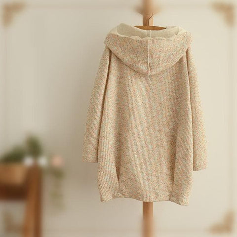 Sweet Spring Knitted Thin Loose Coat SP154018 - SpreePicky  - 4