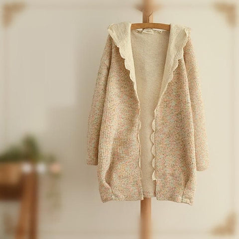 Sweet Spring Knitted Thin Loose Coat SP154018 - SpreePicky  - 3
