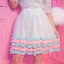Load image into Gallery viewer, Sweet Starry Layered Skirt SP1812343