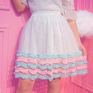 Sweet Starry Layered Skirt SP1812343