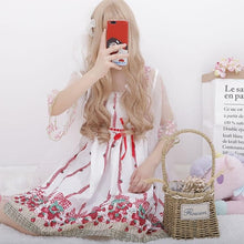 Load image into Gallery viewer, Sweet Strawberry Tulle Suspender Dress/Coat SP1812354