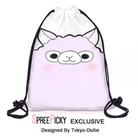 [Tokyo-Dollie Design] Cute Alpaca Drawstring Backpack SP179190