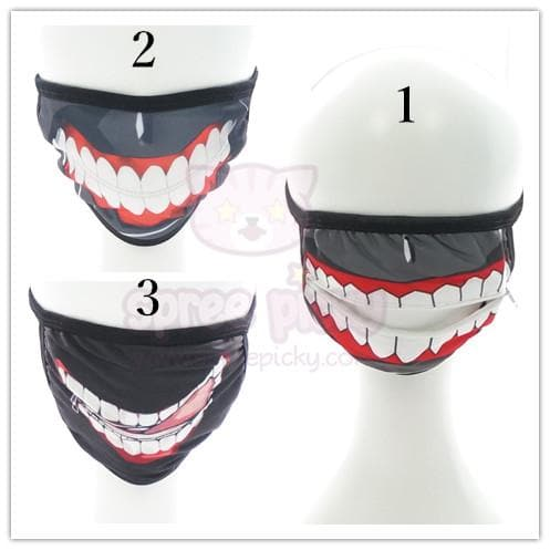[Tokyo Ghoul 東京喰種] Cosplay Scary Dust Mask SP152116 - SpreePicky  - 1