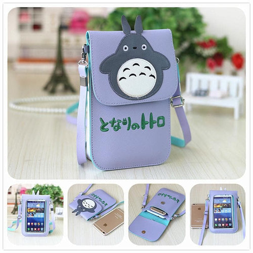 Final Stock! Totoro Lavender Phone Purse SP178672