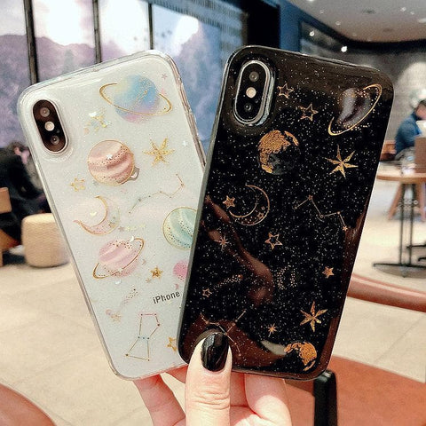Transparent/Black Space Phone Case SP1811770