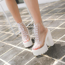 Load image into Gallery viewer, Transparent High-Heeled Platform Boots SP1812449