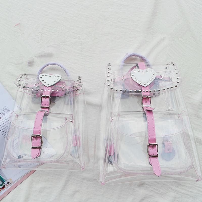 Kawaii Pinky Clear Backpack SP167397