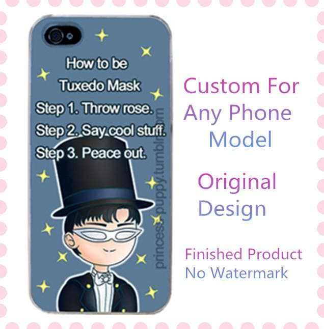 Tuxedo Mask Sailor Moon Custom Phone Case SP140908 - SpreePicky  - 1