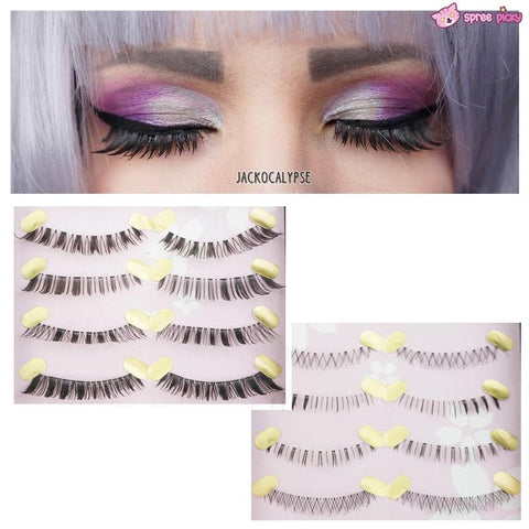 [Upper and Lower * 5 Pairs] Natural Make-up False Eyelashes SP151779