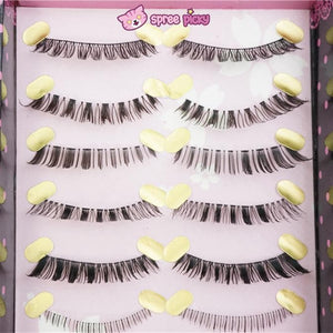 [Upper and Lower * 5 Pairs] Natural Make-up False Eyelashes SP151779 - SpreePicky  - 2