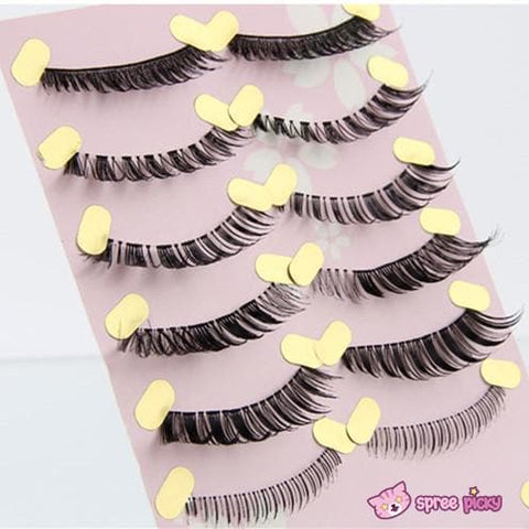 [Upper and Lower * 5 Pairs] Natural Make-up False Eyelashes SP151779 - SpreePicky  - 4