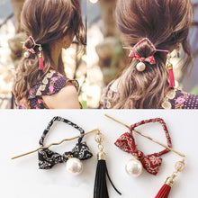 Load image into Gallery viewer, Vintage Tassel Pearl Hairpin SP178859