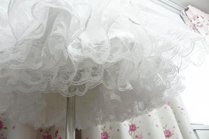 White/Black Lolita Kawaii Cute Lace 3 layers Petticoat Skirt SP130194 - SpreePicky  - 7