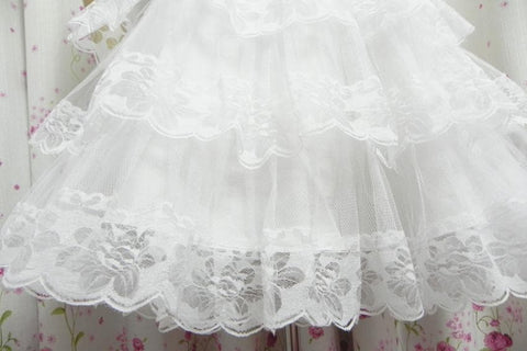White/Black Lolita Kawaii Cute Lace 3 layers Petticoat Skirt SP130194 - SpreePicky  - 8