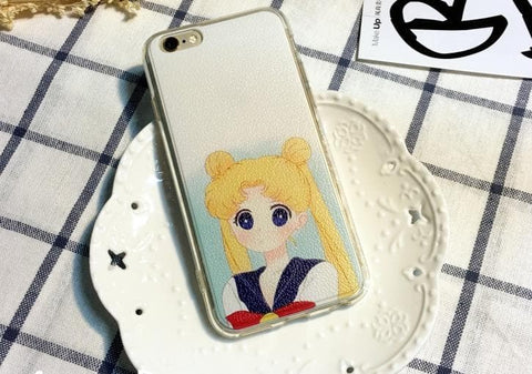 White-Blue/Pink Sailor Moon Iphone Phone Case SP165814