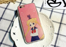 Load image into Gallery viewer, White-Blue/Pink Sailor Moon Iphone Phone Case SP165814 Kawaii Aesthetic Fashion - SpreePicky