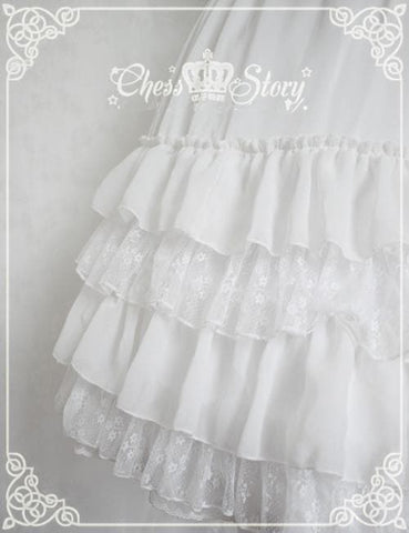 White/Black/Orange Pink Lolita Long Skirt Petticoat SP141087 - SpreePicky  - 7