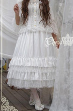 Load image into Gallery viewer, White/Black/Orange Pink Lolita Long Skirt Petticoat SP141087 - SpreePicky  - 8