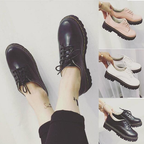 White/Black/Pink Preppy Style Casual Shoes SP178670
