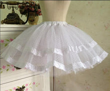 Load image into Gallery viewer, White/Black Bobby Lolita Fluffy Petticoat Skirt SP154049 - SpreePicky  - 3
