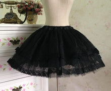 Load image into Gallery viewer, White/Black Bobby Lolita Fluffy Petticoat Skirt SP154049 - SpreePicky  - 4