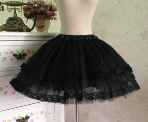 White/Black Bobby Lolita Fluffy Petticoat Skirt SP154049 - SpreePicky  - 4