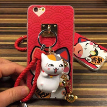 Load image into Gallery viewer, White/Black Fortune Cat Phone Case SP166821 - Harajuku Kawaii Fashion Anime Clothes Fashion Store - SpreePicky