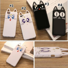 Load image into Gallery viewer, White/Black Kawaii Cat Printing Phone Case SP168218