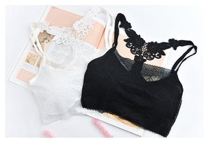 White/Black Lace Butterfly Vest SP1812180