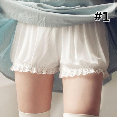 White/Black Lace Safety Shorts/Bloomers SP166658