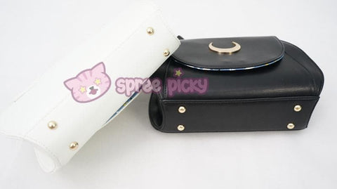 Big Metal Moon-White/Black Sailor Moon Luna/Artemis Shoulder Bag High Quality Version SP152787 - SpreePicky  - 4