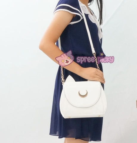 White/Black Sailor Moon Luna/Artemis Shoulder Bag High Quality Version SP152413 - SpreePicky  - 11