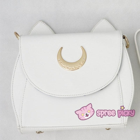 White/Black Sailor Moon Luna/Artemis Shoulder Bag High Quality Version SP152413 - SpreePicky  - 4
