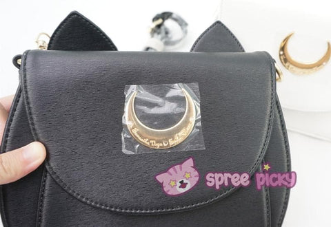 White/Black Sailor Moon Luna/Artemis Shoulder Bag High Quality Version SP152413 - SpreePicky  - 5