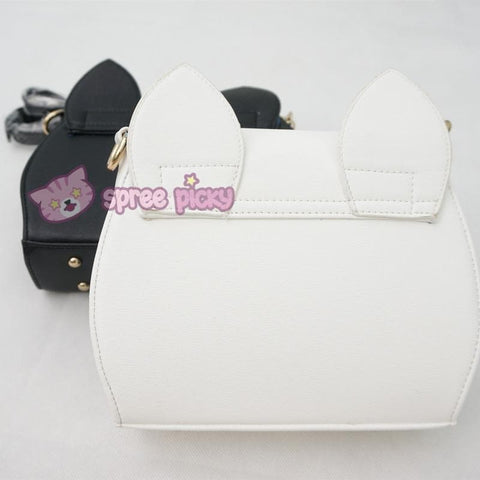 White/Black Sailor Moon Luna/Artemis Shoulder Bag High Quality Version SP152413 - SpreePicky  - 8