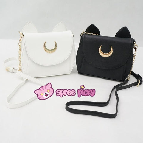 White/Black Sailor Moon Luna/Artemis Shoulder Bag High Quality Version SP152413