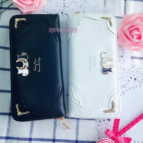 White/Black Sailor Moon Luna/Artemis Wallet SP165493