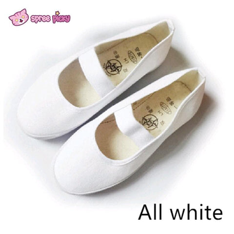 White|Blue|Red J-fashion Cosplay School Uniform Flat Gym Shoes SP151628 - SpreePicky  - 2