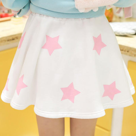 White/Blue Pinkie Star Skirt SP179409