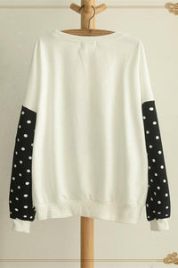 White/Grey Sleeping Kitty Sweater Jumper SP154312 - SpreePicky  - 4