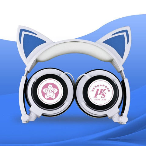 White/Pink/Black Love Live Cutie Kitty Headphones SP178838