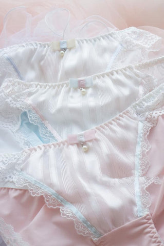 White/Pink/Blue Milky Lace Undies SP164910 - SpreePicky  - 3