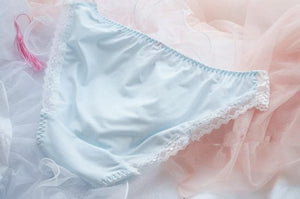 White/Pink/Blue Milky Lace Undies SP164910 - SpreePicky FreeShipping