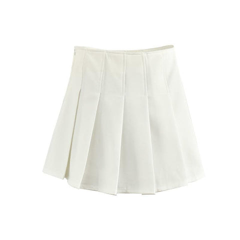 White/Pink/Navy Tennis Pleated Skirt SP168053