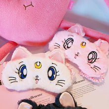 Load image into Gallery viewer, White/Pink/Navy Sailor Moon Sleep Masks SP179880