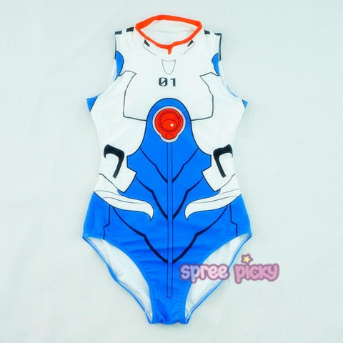 White/Pink/Red/Blue EVA Cosplay One-Pieces Swimsuit SP165637