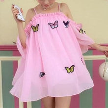 Load image into Gallery viewer, White/Pink Fairy Butterfly Chiffon Shirt SP1812320