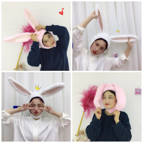 White/Pink Kawaii Bunny Ears Hat SP1812521